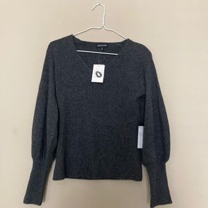NWT Knyt & Lynk Cashmere Bubble Sleeve Pullover